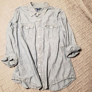 OLD NAVY Men's Chambray Button-down - XXLT